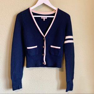 JUICY COUTURE Varsity Cardigan Sweater